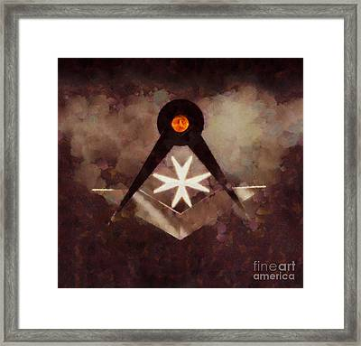 Symbol Of The Freemasons By Pierre Blanchard Framed Print