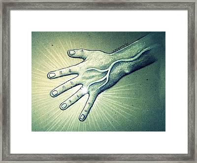 Symbol Of Unity Framed Print by Paulo Zerbato
