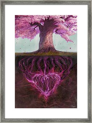 Symbolism Of Marriage Framed Print
