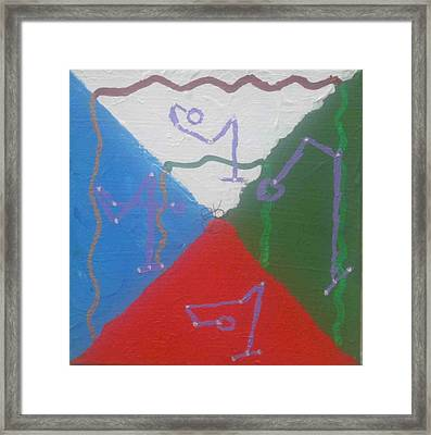 Symbols And Colors Of Archangels Two Framed Print by AJ Brown