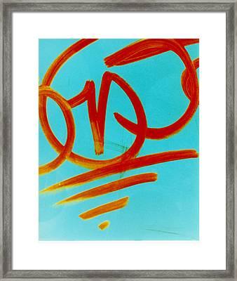 Symbols Framed Print by David Rivas
