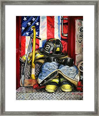 Symbols Of Heroism Framed Print