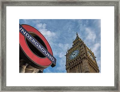 Symbols Of London Framed Print
