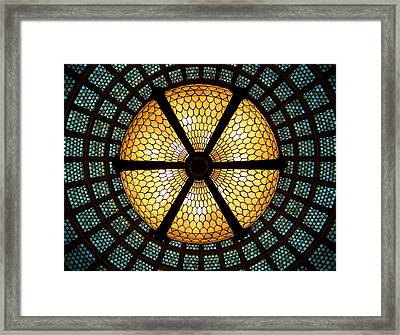 Symmetric Lights Framed Print by Matt Cangelosi
