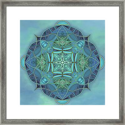 Symmetrical #12 Framed Print by Marion Sipe