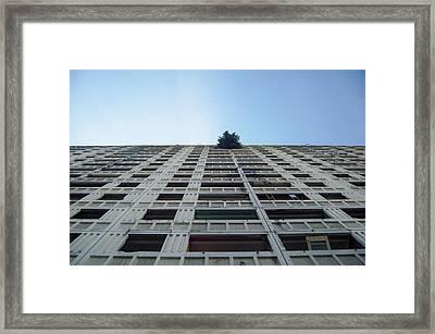 Symmetrical Block Framed Print