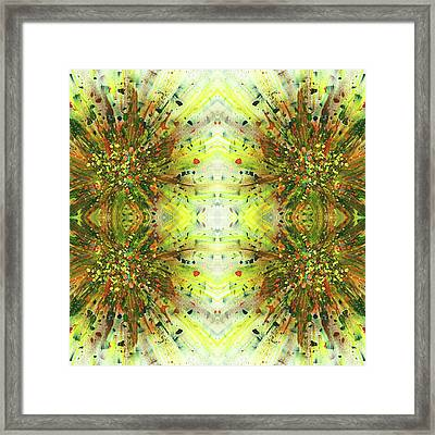 Symmetrical Reflections Of The Sound Waves #1389 Framed Print