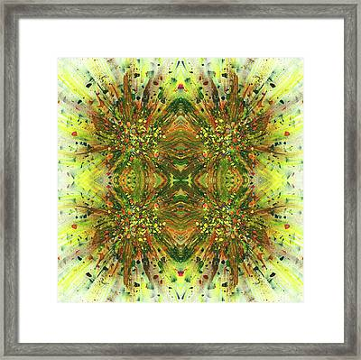 Symmetrical Reflections Of The Sound Waves #1390 Framed Print