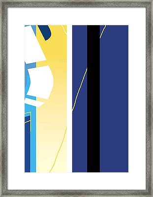 Symphony In Blue - Movement 2 - 1 Framed Print