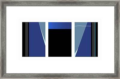 Symphony In Blue - Triptych 3 Framed Print