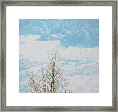 Symphony In The Snow Framed Print by Veronika Logar
