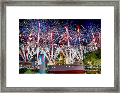 Symphony In The Stars As Seen Around Echo Lake Framed Print
