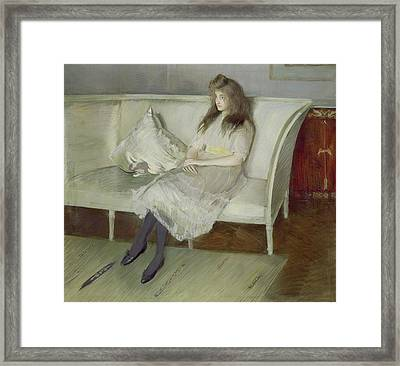 Symphony In White Framed Print by Paul Cesar Helleu