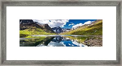 Symphony Lake  Framed Print by Ed Boudreau