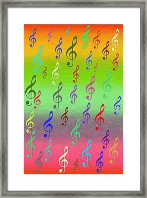 Framed Print featuring the digital art Symphony Of Colors by Angel Jesus De la Fuente