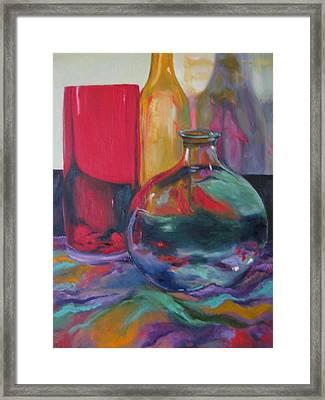 Symphony Of Vases Framed Print by Lisa Boyd