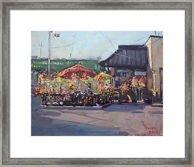 Symposium Cafe Restaurant - Georgetown Framed Print by Ylli Haruni