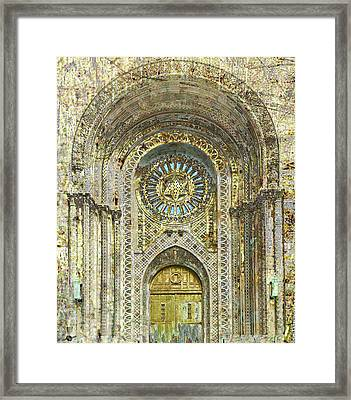 Framed Print featuring the mixed media Synagogue by Tony Rubino