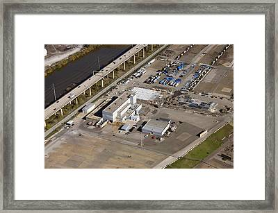 Synagro Central 7800 Penrose Ferry Road Philadelphia Framed Print by Duncan Pearson