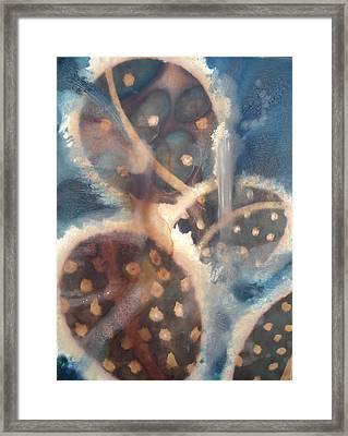 Synapse Of Spores Framed Print by Lauren  Macko