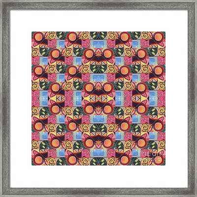 Synchronicity - A  T J O D 1 And 9 Arrangement Framed Print by Helena Tiainen
