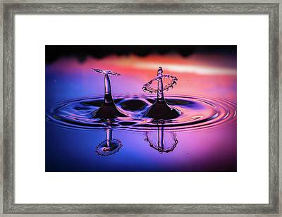 Framed Print featuring the photograph Synchronized Liquid Art by William Lee
