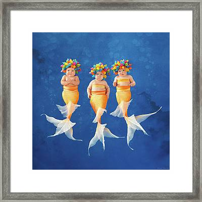 Synchronized Swim Team Framed Print