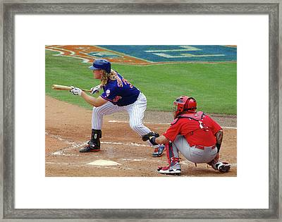 Syndergaard And Molina Framed Print