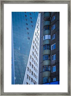 Framed Print featuring the photograph Synergy Between Old And New Apartments by John Williams