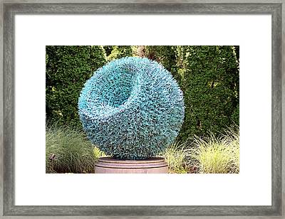 Syntax Sculpture  Framed Print by Gayle Miller