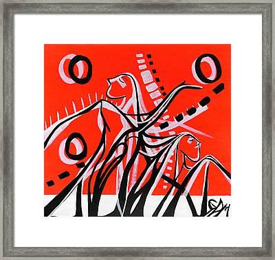 Synthesis Dance Framed Print by Geoffrey Doig-Marx