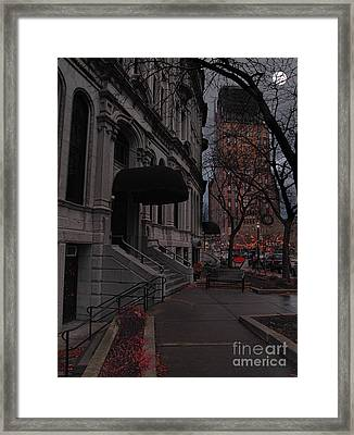 Syracuse At Night Framed Print by Debra Millet
