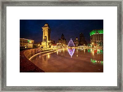 Syracuse Christmas Framed Print