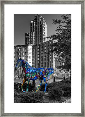 Framed Print featuring the photograph Syracuse Horse by Don Nieman