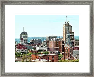 Syracuse, New York Framed Print by Debra Millet