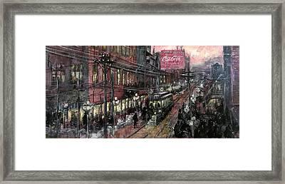 Syracuse New York Historical Framed Print by Hall Groat Sr
