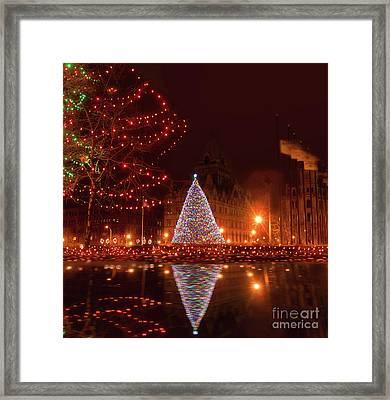 Syracuse, Ny Christmas Tree Framed Print by Debra Millet