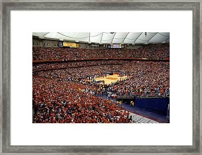 Syracuse Orange Carrier Dome Framed Print by Replay Photos