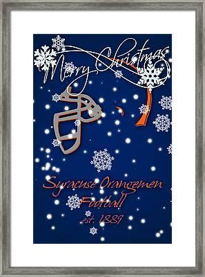 Syracuse Orangemen Christmas Card Framed Print