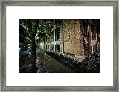 Framed Print featuring the photograph Syracuse Sidewalks by Everet Regal