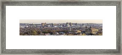 Syracuse Skyline Framed Print by Everet Regal