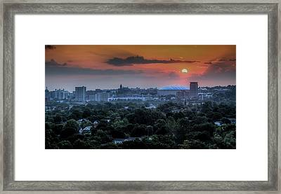 Syracuse Sunrise Framed Print by Everet Regal