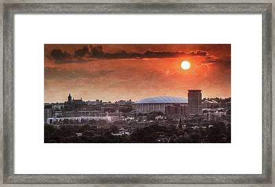 Syracuse Sunrise Over The Dome Framed Print