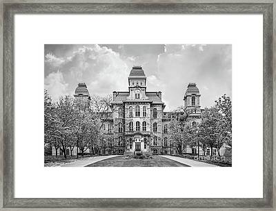 Syracuse University Hall Of Languages Framed Print by University Icons