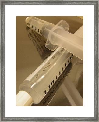 Syringe Framed Print by Heather Weikel