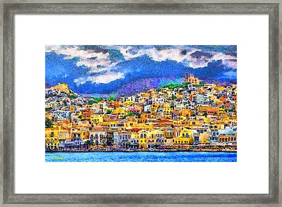 Syros Framed Print by George Rossidis