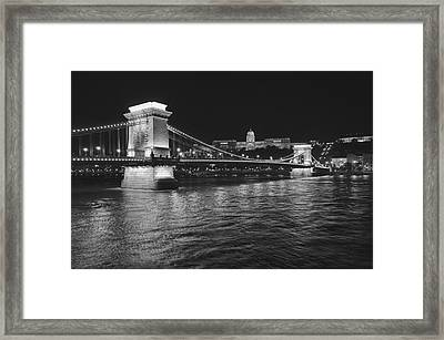 Szechenyi Chain Bridge Budapest Framed Print