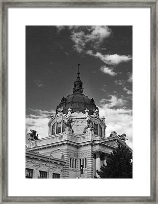 Szecsenyi Furdo - Szecsenyi Bath- Budapest Hungary Framed Print by Eva Ramanuskas