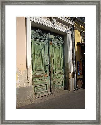 Szentendre Doors Framed Print by Julie Ringer