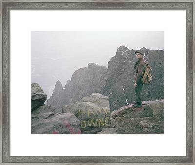 T-04701 Fred Beckey On Mt. Si 1958  Framed Print